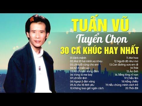 30 Ca khúc nhạc vàng Tuấn Vũ hay nhất trong sự nghiệp