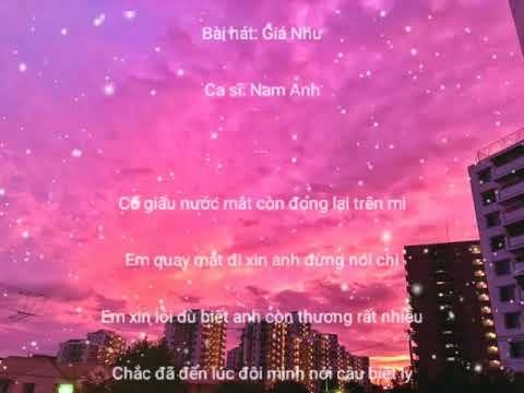 Giá Như - Nam Anh